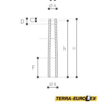 ARSTYL® Half Column, fluted-схема с размерами